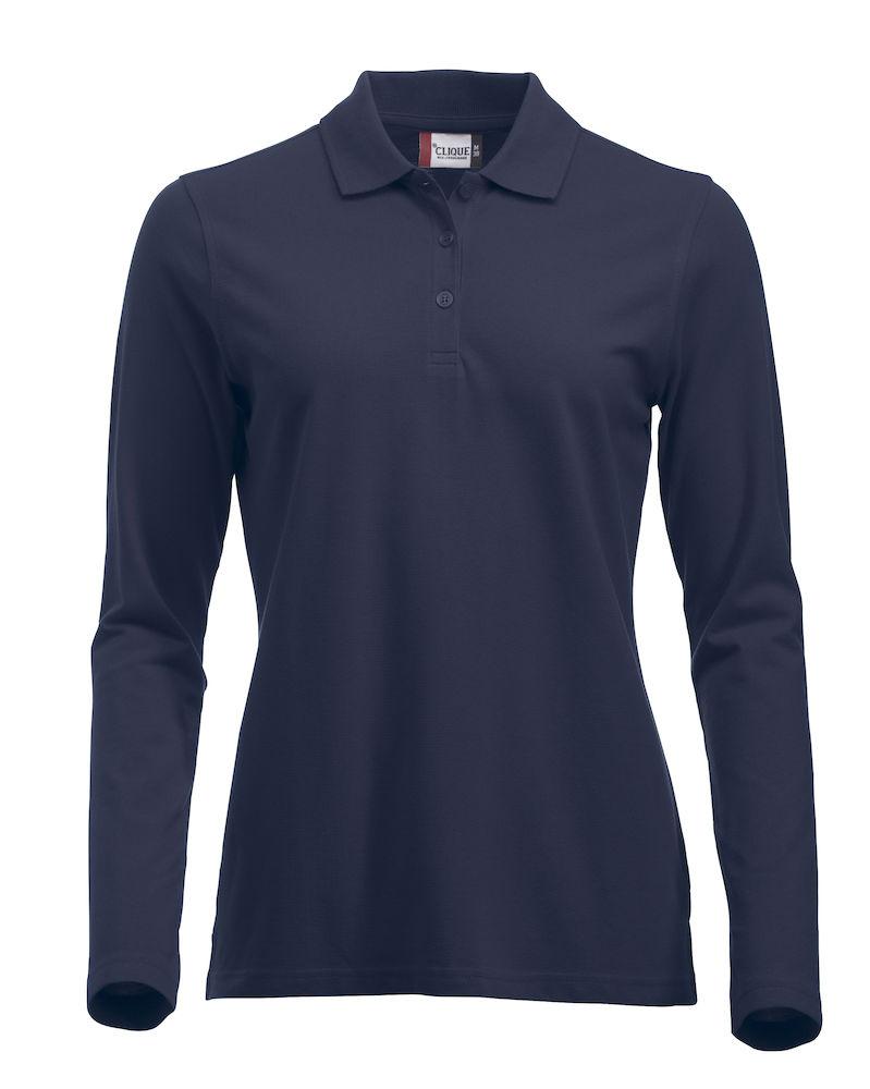 Ski MG Langermet Pique skjorte mtrykk Hesteprodukter